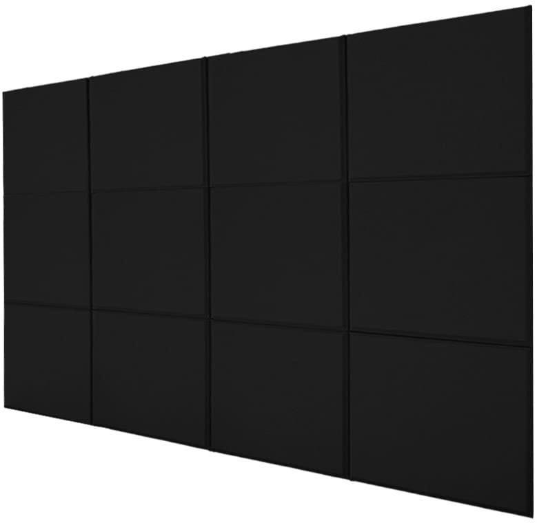 BQLZR 30x30x2.5cm Black A Type Fiberglass Acoustic Home Studio Soundproof Sound Absorbing Panel